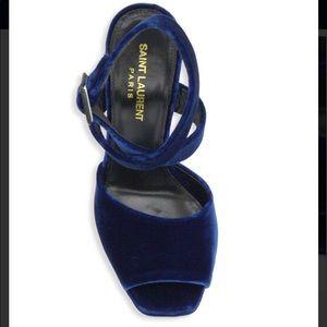 dae0ed97d32 Saint Laurent Shoes - Saint Laurent Debbie Velvet Platform Sandals